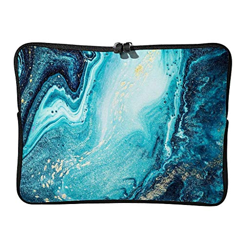 Standard Marble Texture Ink Laptop Bags Novelty Wear Resistant - Modern Style Laptop Briefcase Suitable for Work
