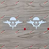 2X White 4'' Russian Airborne Troops VDV Car Decal Sticker Russia WW2 Flag of Airborne Forces