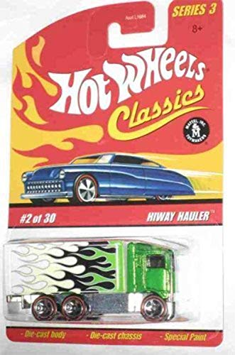 Hot Wheels Classics Series 3 #2 Hiway Hauler Green 5-Spoke Redlines Collectible Collector Car Mattel 1:64 Scale Collectible Die Cast Car Mississippi