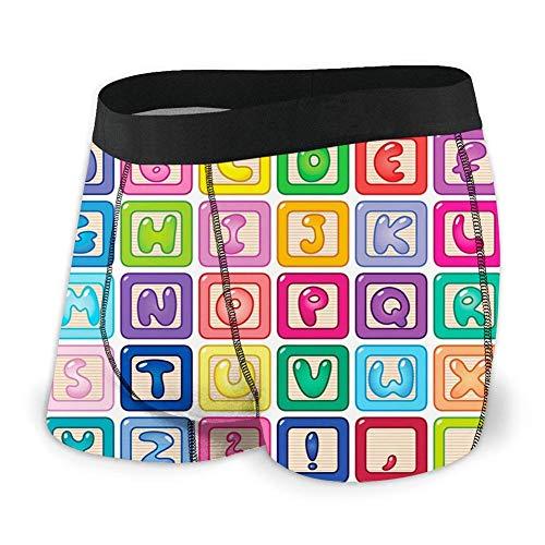 Preisvergleich Produktbild Web--ster Herrenunterwäsche Sport Boxer Briefs,  Brettspiel Design des Weges zum Pilzhaus in einem Wald Größe L.