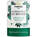 Organic Sitz Bath Soak for Postpartum Care & Recovery | Hemorrhoid Treatment | Organic Therapeutic Herbs with Natural Dead Sea Salts & Pure Epsom Salt | Soothing Perineal Soaking Cleanse