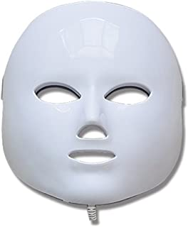 LED Light Therapy Mask 7 Colors (150 LED's Red, Blue, Green) for Anti Aging, Wrinkles, Skin Whitening - Proven to Work!
