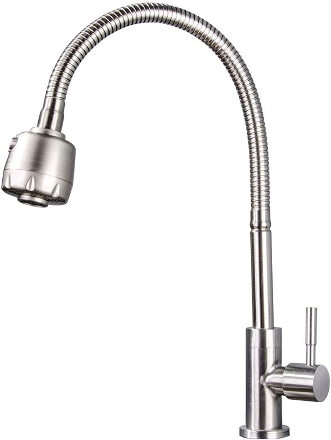 LXKY Kitchen faucet - hot and cold water redating 304 stainless steel sink basin faucet,B