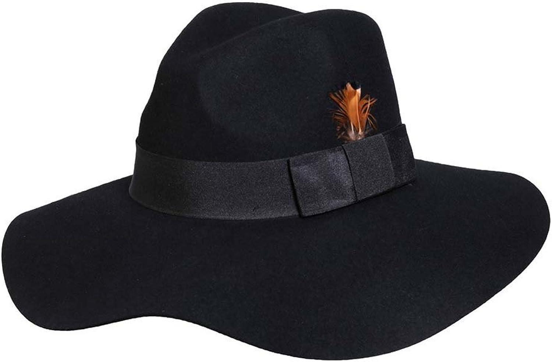 Allison Widebrim Wool Hat - Black