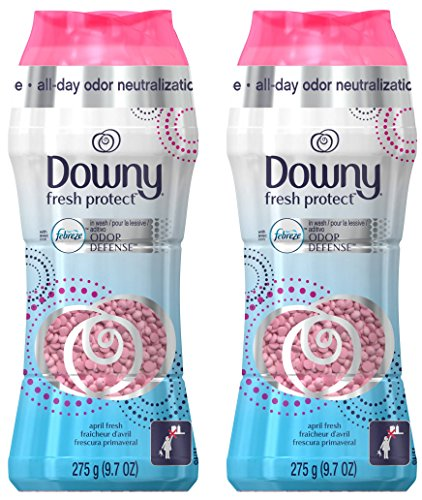 Downy Fresh Protect in-Wash Odor Defense with Febreze - April Fresh - Net Wt. 9.7 OZ (275 g) Per Bottle - Pack of 2