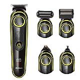 Binwe - Cortapelos eléctrico 5 en 1, multifuncional, para afeitadora de barba recargable para hombres