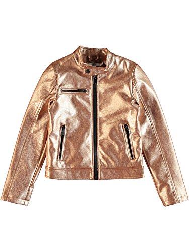 Name It 13148747 - Chaqueta de piel sintética con cuello dorado, mod. Meta TG 8A