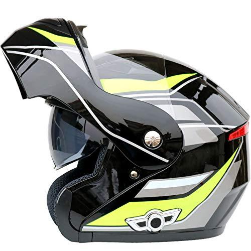 ABDOMINAL WHEEL Casco para Moto Bluetooth Adulto,Casco Moto Modular con Doble Lente Antivaho,ECE Certificación Casco Flip Up Motocicleta con Función De Respuesta Automática F,XXL=63~64CM