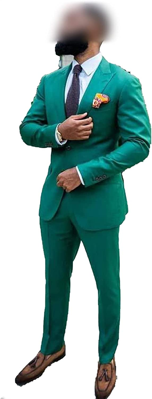 Green Two Pieces Slim San Antonio Mall Fit Minneapolis Mall Wedding 2 Sui Buttons Tuxedos Lapel Ed