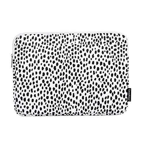 GZA Bolso Portátil 11,12', 13', 14', 15,15.6', 13.3 Pulgadas, Funda De Manga De La Bolsa De Señora para MacBook Air M1 Pro Compute Women (Color : H36 01 Leopard, Size : For Macbook A1708)