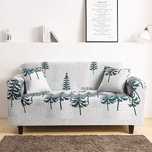JIAYOUFC Sofa Schutz Abdeckung, Grey Jungle Big Tree Bedruckte elastische Couchbezüge Wohnzimmer rutschfeste Polyester Spandex Sofa Schonbezug Universal Fitting Sofa Schonbezug Möbel Schlafzimmer Pr