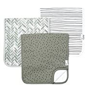 """Baby Burp Cloth Large 21''x10'' Size Premium Absorbent Triple Layer 3 Pack Gift Set """"Alta"""" by Copper Pearl"""