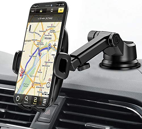 Mpow Dashboard Car Phone Mount Windshield Car Phone Holder 2 Suction Levels Washable Gel Pad product image