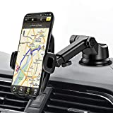 Mpow Dashboard Car Phone Mount, Windshield Car Phone Holder, 2 Suction Levels, Washable Gel Pad Compatible iPhone 12 11 Pro/Max/X/XS/XR/8Plus/8/7Plus/7/6Plus, Google, One Plus, Moto Etc