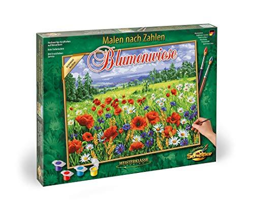 Schipper 609130824 - Malen nach Zahlen - Blumenwiese-Bilder malen für Erwachsene, inklusive Pinsel und Acrylfarben, 40 x 50 cm