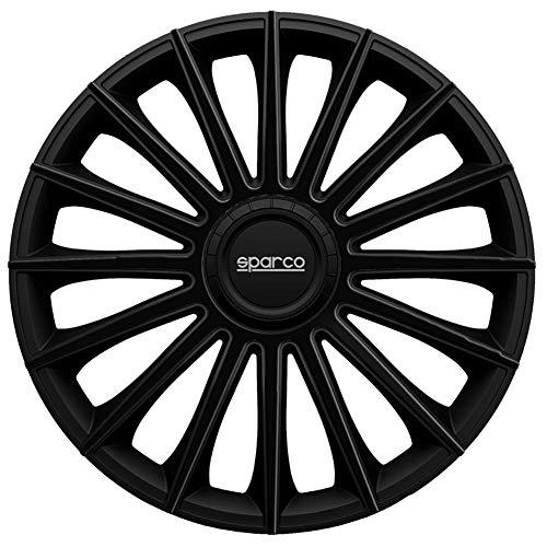 Jeu d'enjoliveurs Sparco Torino 16-inch noir