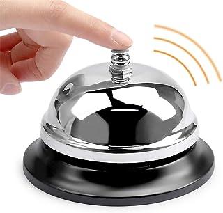 BUYGOO srebrny serwis dzwonek na biurko dzwon recepcja dzwon