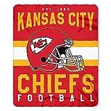 Officially Licensed NFL Kansas City Chiefs 'Singular' Printed Fleece Throw Blanket, 50' x 60', Multi Color