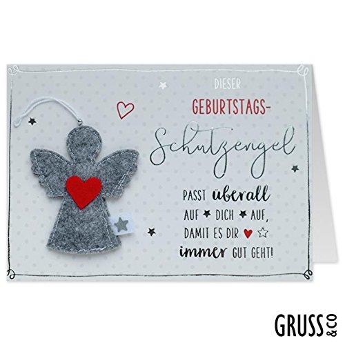Grußkarte Filz - Geburtstags-Schutzengel - Geburtstagskarte - 13
