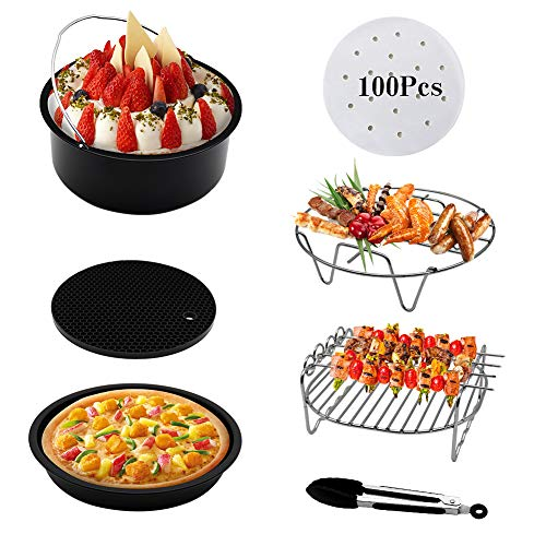 Air Fryer Accessories 7pcs for Phillips Gowise Power Airfryer XL and Cozyna Fit all 3.7QT - 5.3QT - 5.8QT