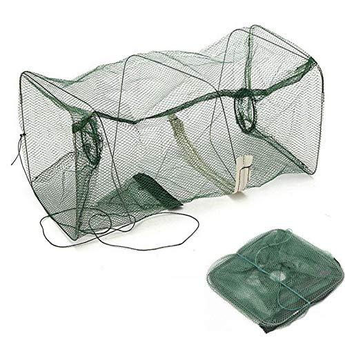 YIJIAHUI Red de pesca 22x45cm plegable red de pesca camarones cangrejos de cangrejo de langosta cebo de langostina de malla trampa de pesca