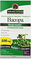 海外直送品 Nature's Answer Bacopa 500mg, 90 vcaps
