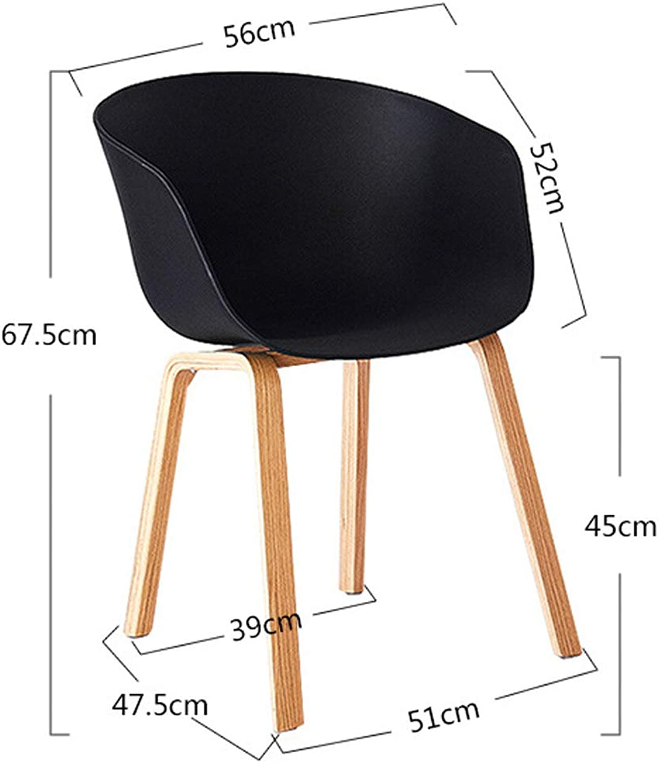 Kitchen Chairs Yellow Wood Kitchen Stools Breakfast Bar Chairs with Legs Upholstered Seat (color   Black)