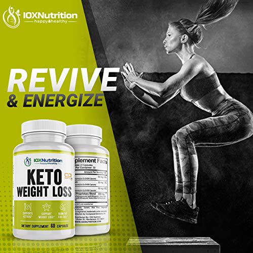 Keto Pills - Supports Keto Burn - Fast Ketosis Diet for Men and Women - Slim Formula with Advanced Keto Pill Capsules - Boost Keto Energy and Metabolism - Pure BHB Keto Pills - 60 Capsules 2