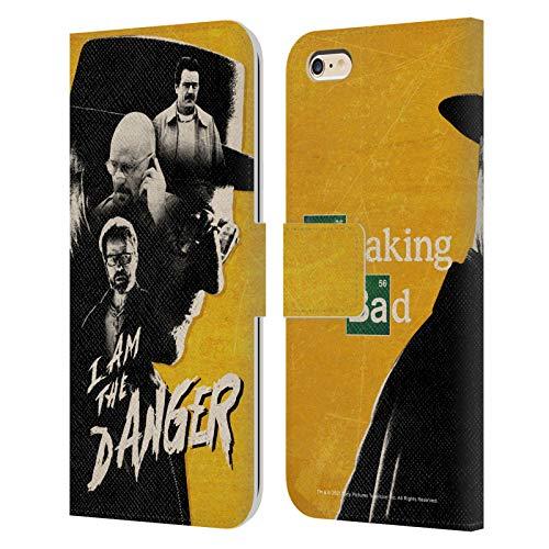 Head Case Designs Licenciado Oficialmente Breaking Bad Heisenberg I Am The Danger Iconic Carcasa de Cuero Tipo Libro Compatible con Apple iPhone 6 Plus/iPhone 6s Plus