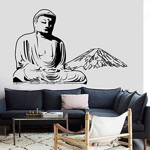 AKmene Zen meditación Yoga Cartel Vinilo Pared calcomanía decoración Mural Yoga Pegatina 58x88cm