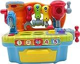 BSD Werkzeug für Kinder mit Ton und Licht - Werkstatt - Werkbank Spielzeug - Kinderwerkbank - Kinderwerkzeug - Kinder Werkstatt - Klopfspielzeug - Hämmerspielzeug