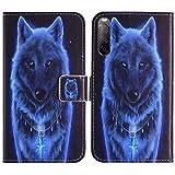 TienJueShi Wolf Flip Book Stand Brieftasche Leder Tasche Schütz Hülle Handy TPU Silikon Hülle Für Sony Xperia L4 6.2 inch Abdeckung Wallet Cover Etüi