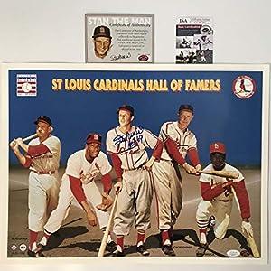 Autographed/Signed Stan Musial St. Louis Cardinals 16x20 Baseball Photo JSA COA