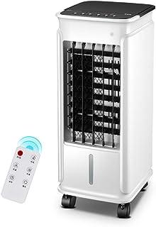 Climatizador Evaporativo Aire Acondicionado Portátil 3 Velocidades Depósito de 5 Litros con Mando a Distancia Blanco Casa/Oficina 60W 25 × 28 × 62cm