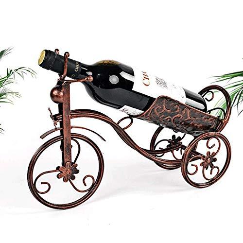Estante para botellas de vino copas vino encimera estante del vino de mesa estante del vino del metal de uva europea, ideal for la decoración del hogar de regalos, bar, bodega, sótano, armario Solo Po