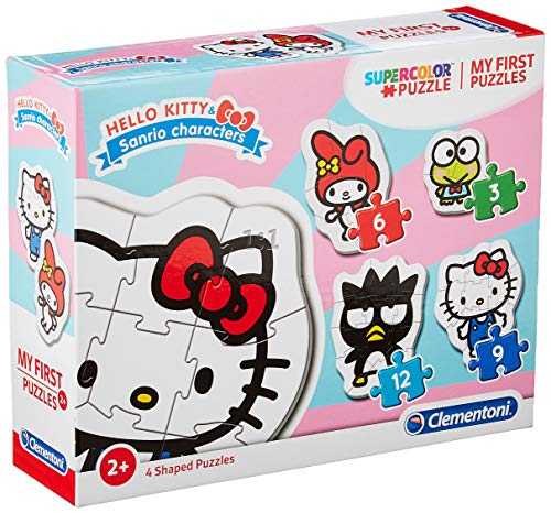 Clementoni - 20818 - My First Puzzle - Hello Kitty - 3-6-9-12 Pezzi - Made In Italy - Puzzle Bambini 2 Anni +