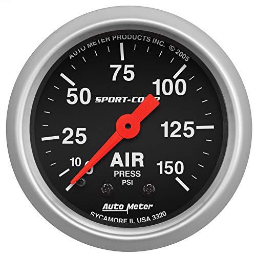 Auto Meter 3320 Sport-Comp Mechanical Air Pressure Gauge