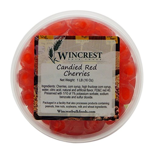 Candied Fruit - 1 Lb Tub (Red Cherries)