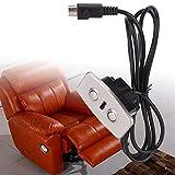 Sillón reclinable eléctrico Botón de reemplazo del sofá, reclinable eléctrico Motor de varilla de empuje Telescópico Controlador de línea de elevación Luz de fondo LED Toma USB, carga de teléfono móvi