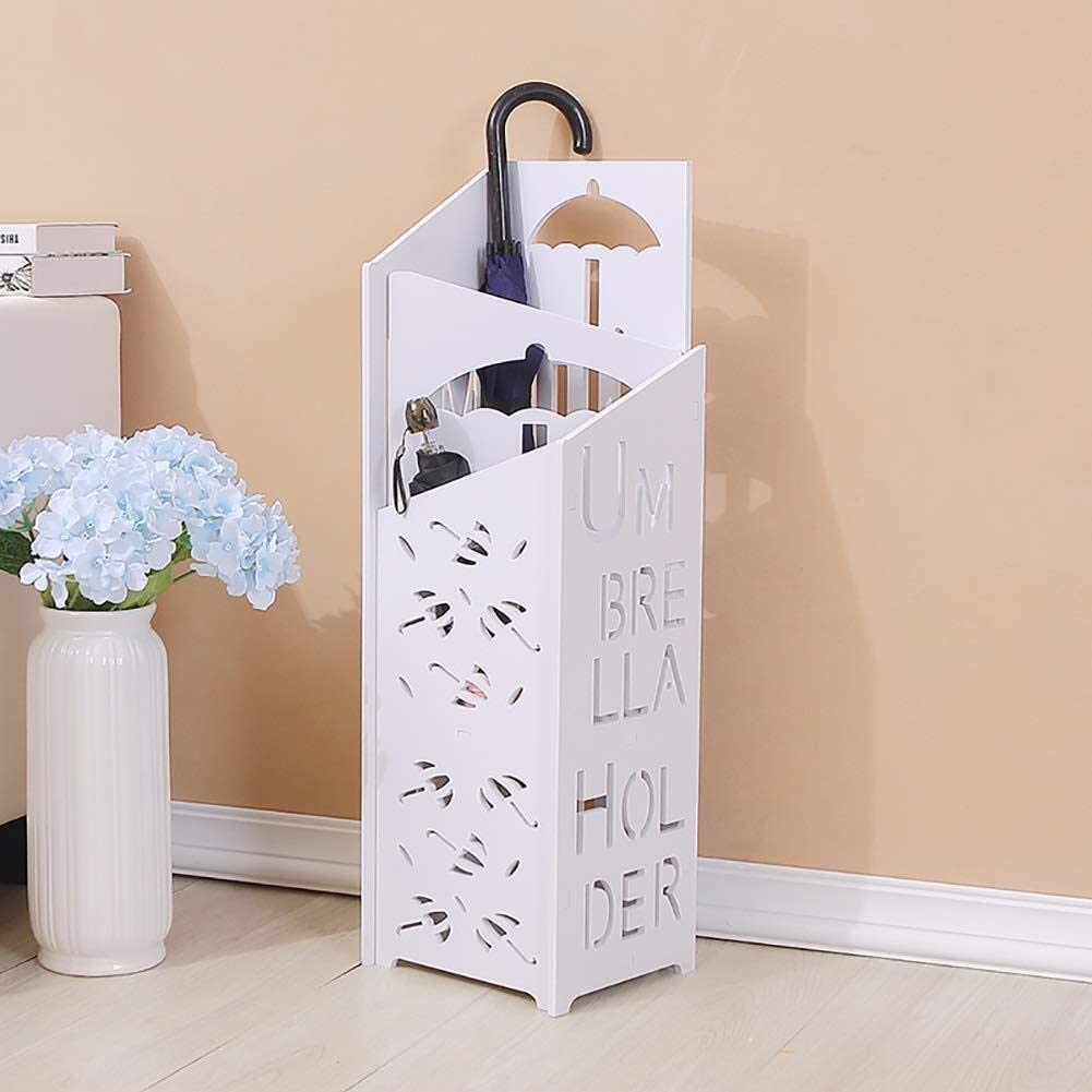 Fresno Mall AINIYF Umbrella Stand Wood Plastic Bargain Storage Detachabl Board Rack