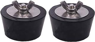 Maotrade 2 tapones de invierno para piscina de invierno de 51 mm de diámetro, con pernos de acero inoxidable, tapón anticongelante para evitar daños en las heladas en tuberías de drenaje de la piscina