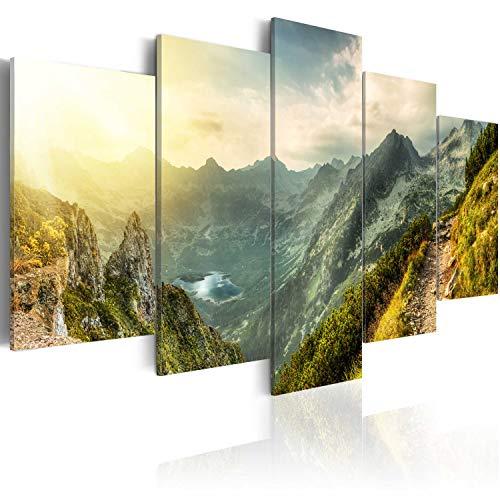 murando Acrylglasbild Landschaft Gebirge 200x100 cm 5 Teilig Wandbild auf Acryl Glas Bilder Kunstdruck Moderne Wanddekoration - Natur Berge c-B-0037-k-m