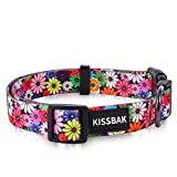KISSBAK Dog Collar for Small Dogs - Special Design Personalized Puppy Collar...
