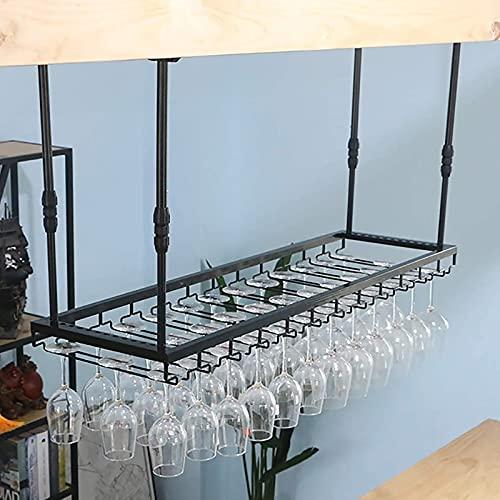 FAFZ Portavini Portabicchieri da Vino, Portabicchieri da Vino A Soffitto, Ripiano per Bicchieri da Vino Regolabile in Altezza Industriale, Adatto per Bar, Ristoranti (Size : 100cm)