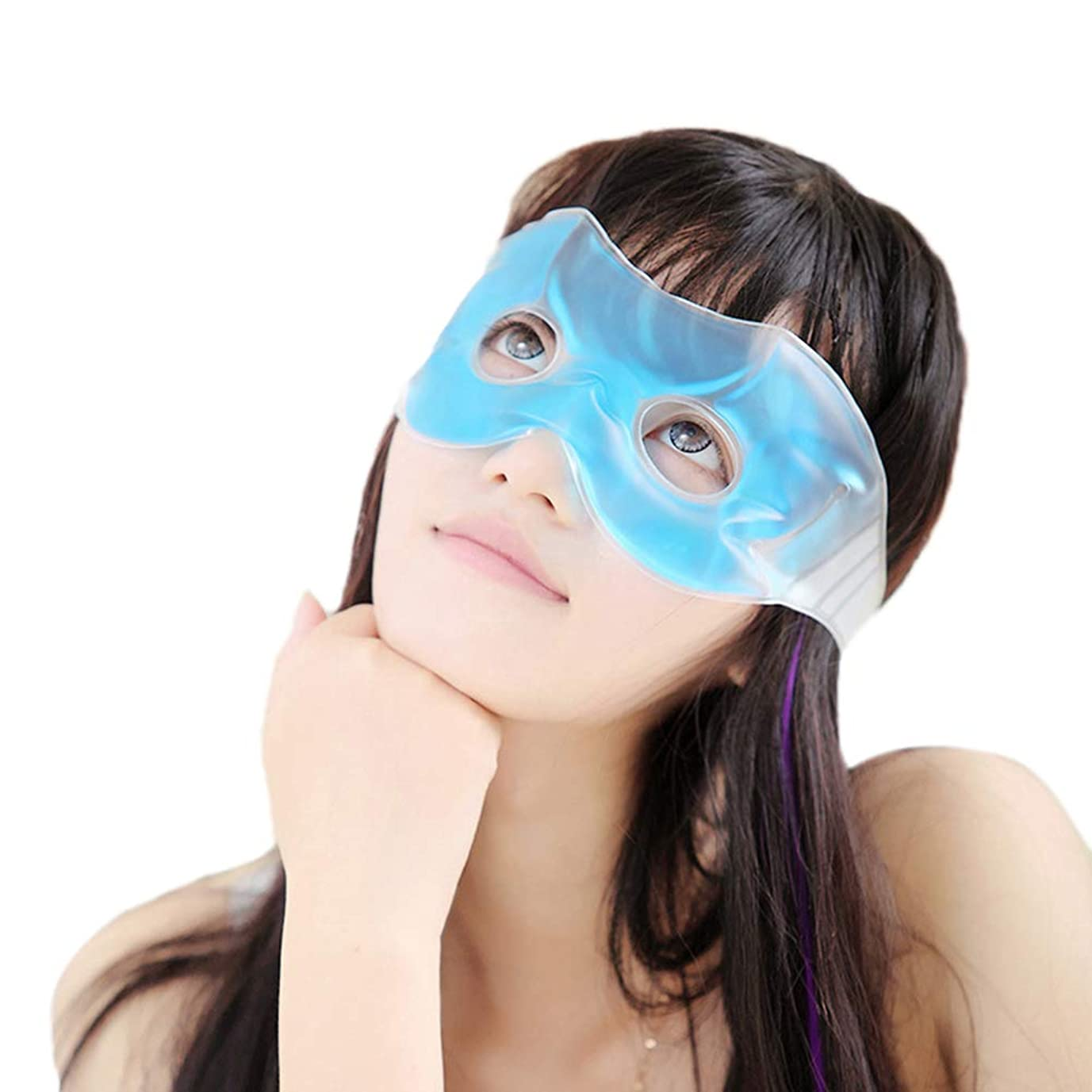 手順カリキュラムタイトルHeallilyアイスアイマスク睡眠アイスパッチ冷却リラックスブラインド快適なパッチ用アイパフネスダークサークル