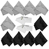 ECO-FUSED Microfiber Cleaning Cloths - 12 Pack - For Cleaning Glasses, Spectacles, Camera