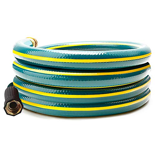 Solution4Patio 5/8 in. x 12 ft. Short Garden Hose, No Leaking, Green Lead-Hose Male/Female Solid Brass Fittings for Reel Cart, Water Softener, Dehumidifier, Camp RV Filter and Janitor Sink Hose