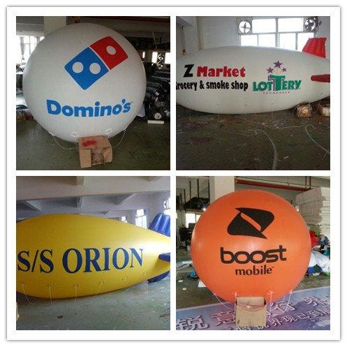 air-ads 6.5pies 2m hinchable publicidad redondo globo/Flying promoción globos/libre Logo (PVC)