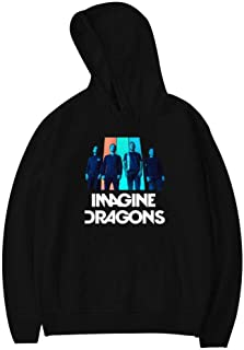 TOP_JKLOVE7 Imag_ine_Dra Fashion Child Pullover Hoodies Hoody Cotton Hooded Sweatshirts with Pockets for Teens Kids