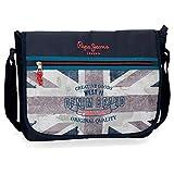Pepe Jeans Ian Carteron para Portátil 15,6' Azul 38x31x10 cms Poliéster